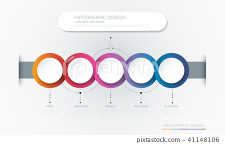 Vector Infographic 3d circle label template design 41148106