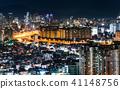 서울 도심의 거리의 야경 41148756