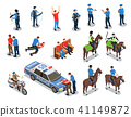 Police Icons Set 41149872