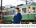 女性旅行短途旅行步行一個人 41151755