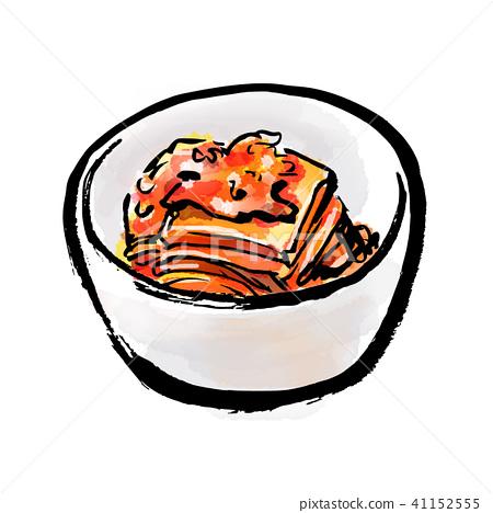 Brush drawn food Kimchi 41152555