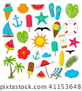 Collection of summer icons. Vector. 41153648