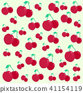 Cute cherry pattern. Good for textile, wrapping, w 41154119