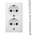Dual electrical socket Type F. Receptacle from Europe. 41154567