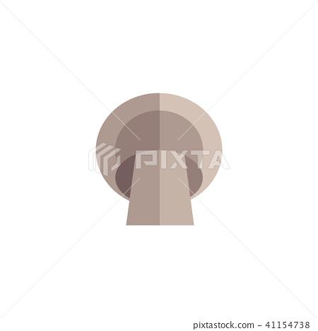 Vector flat champignon mushroom icon 41154738