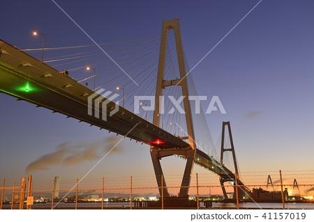 meiko central bridge, meiko trion, cable-stayed bridge 41157019