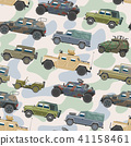 Military vehicle vector army car and armored truck or armed machine illustration set of war 41158461