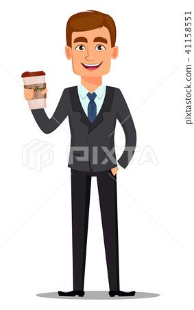 Handsome banker in business suit 41158551