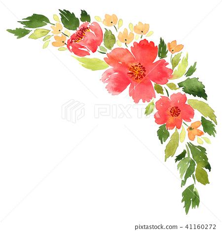 Loose watercolor floral arrangement 41160272