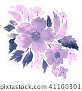 Watercolor bouquet of flowers 41160301