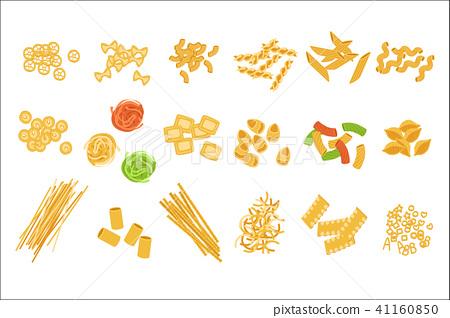 Classic Italian Pasta Types Set 41160850