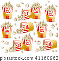 Popcorn pattern Vector realistic. 3d detailed 41160962