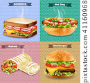 sandwich, wrap, burger 41160968