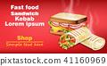 sandwich, vector, realistic 41160969