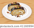 Homemade Chocolate and pistachio roll 41160994