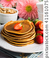 pancake, oatmeal, oat 41161075