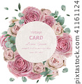 Wedding invitation with roses Vector. Beautiful 41161124