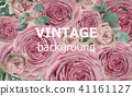 Vintage beauty background with roses Vector 41161127
