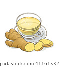 ginger tea illustration 41161532
