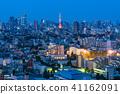 """""""東京""""東京塔和城市夜景 41162091"""