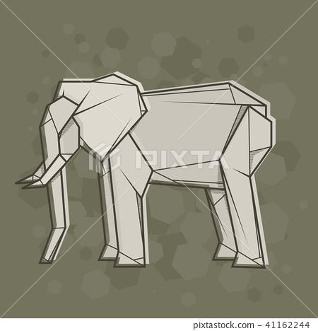 Abstract simple illustration drawing elephant. 41162244