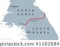 Korean Peninsula, Demilitarized Zone Area, map 41162684