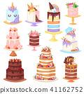 cake, vector, dessert 41162752