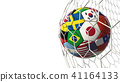 Soccer football with country flags isolated 41164133