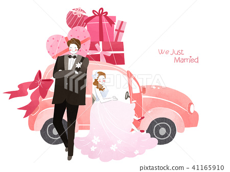 Vector - Couple in love, event day concept illustration 011 41165910
