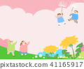 Vector - Welcome spring. Enjoy spring time illustration 002 41165917