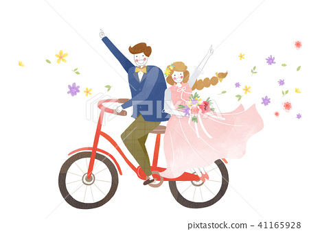 Vector - Couple in love, event day concept illustration 003 41165928