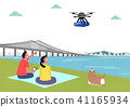City of the future, Artificial Intelligence and daily life concept vector illustration 017 41165934