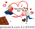 Vector - Couple in love, event day concept illustration 008 41165940