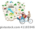 Trip to East asia, Travel Landmarks Vector Illustration 011 41165946