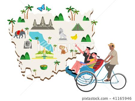 Trip to East asia, Travel Landmarks Vector Illustration 011 41165946