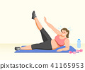 Doing exercises to lose Weight, health care concept illustration 020 41165953