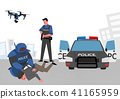 City of the future, Artificial Intelligence and daily life concept vector illustration 007 41165959