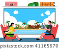 Trip to East asia, Travel Landmarks Vector Illustration 008 41165970