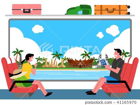 Trip to East asia, Travel Landmarks Vector Illustration 008 41165970