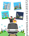 Trip to East asia, Travel Landmarks Vector Illustration 006 41165972
