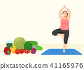 Doing exercises to lose Weight, health care concept illustration 010 41165976