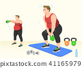 Doing exercises to lose Weight, health care concept illustration 007 41165979