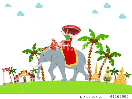 Trip to East asia, Travel Landmarks Vector Illustration 001 41165993