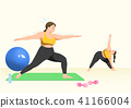 Doing exercises to lose Weight, health care concept illustration 004 41166004