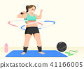 Doing exercises to lose Weight, health care concept illustration 003 41166005