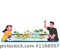 Trip to East asia, Travel Landmarks Vector Illustration 009 41166007