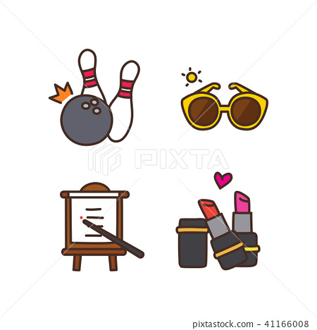 Vector - Related to life and daily flat icon set.040 41166008