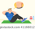 Doing exercises to lose Weight, health care concept illustration 018 41166012