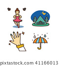 Vector - Related to life and daily flat icon set.030 41166013