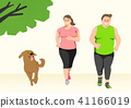 Doing exercises to lose Weight, health care concept illustration 013 41166019